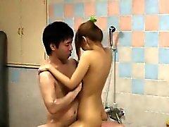 Schönes Seductive koreanischer Mädchen Bangen