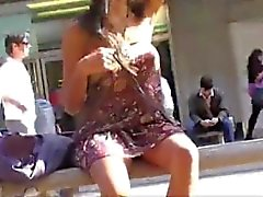 Flashing Asian In Public No Pants