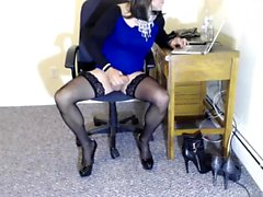 Sluts in Stockings Masturbate and Finger Solo