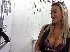 Booby blonde hoe Abbey Brooks anal fucked by big black cock