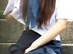 Blinkende jugendlich asiatische pees