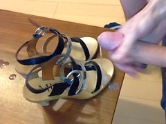 Wife's strappy Italian heels get a big load