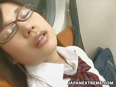Sleeping Girls molested in Public