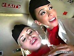Çift Slut Uçak Ustaları Slamming Yolcu