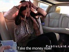 Fake agente bangs beleza em limusine