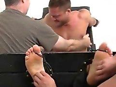 Torturing mens balls gay porn videos Muscular Tyrell Tickled