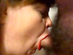 Cum sacchetto la moglie di suzione e sperma rondine