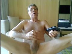 dad jerking off in his hotel room
