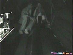Kamera wurde von Limousine Sex erwischt
