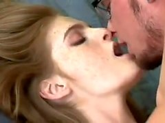 Faye Reagan fucked hard and drinks cum