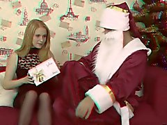 Cutie thought she did not believe in Santa Claus and in