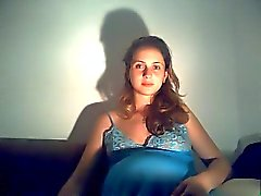 preggo Mädchen in der Webcam