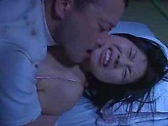 Mosaik : Rin Aoki fucks bakifrån sovande maka