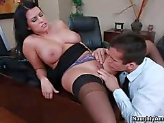 Big titty Lacie James gets a fuck in the office