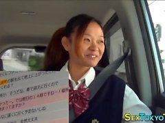 Japanisches Teen reitet Schwanz