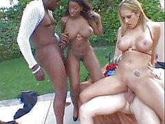 Foursome interracial with big tits & butt fucks (LLVB 3-5)
