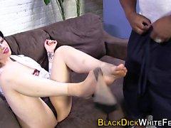 Skanks Füße jizz schwarz