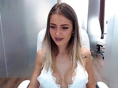 Chica tetona tetas en la webcam intermitente