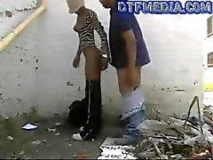 dtfblack porn street hoe gets fucked in an alley