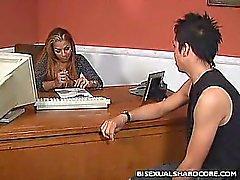 Бисексуалы Офис Sex