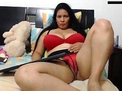 Mature BBW solo sur webcam