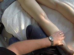 Milf gets naked ass massage