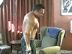 Muscular Gaystraight assfingered amador