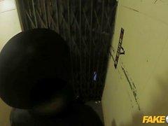 Fake Cop Leggy oficina puta folla policía en un ascensor