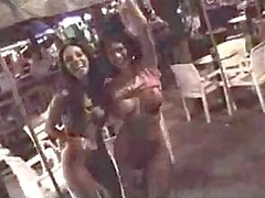 Mindy and Crissy flashing in public