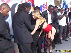 Kagney Linn Karter Interracial Gangbang