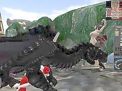 Orgía salvaje dragones, draconianos, Anthros ronca y otros