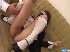 Aiuchi Shiori Япония горничная, сосет ее роговой мастер