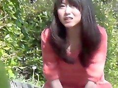 Japanese urinates park