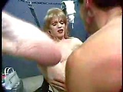 Prison sex with a sweet blond trans