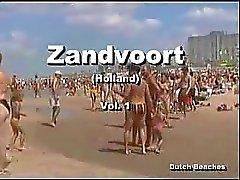 Zandvoort Holländska Engelska Beach Topless Nudist Titties den 12