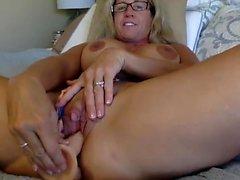 Blonde Mature Masturbate Britannique Sur Cam