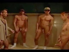 Straight boys bathroom orgy