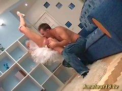 flexi delgada bailarina sexo