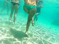 Italienisch Teen String GoPro Unterwasser