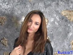 Russian tranny toying her tight asshole