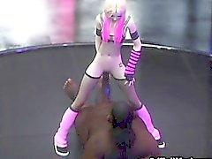3D-dünne Emo Teen zerstört von Aliens!