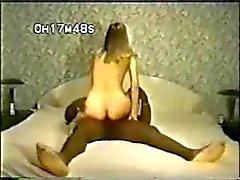 Petite esposa alças brancas ENORME BBC