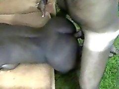 Siyah ev yapımı sıcak anal