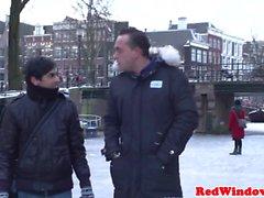 Голландского проститутка cummed дальше во Голландией