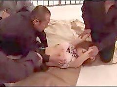 Punatukkaset Tyttö ja Tasan menevät varsia Sukkahousut Getting hänen pillua Fingered nuoli munaa Jail