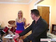 Busty blonde Christie Stevens take cock