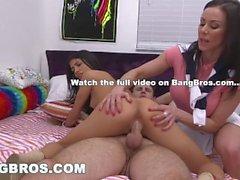 BANGBROS - Stepmom Dreier mit Veronica Rodriguez und Kendra Lust!
