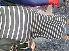 Culo de grasa colombinas vestido gris