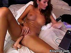 Tattoed Amateur Webcam Mädchen Hot Dildoaction Masturbation