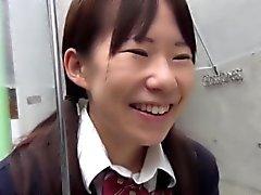 Uniform asiatische liebäugelt Fotze